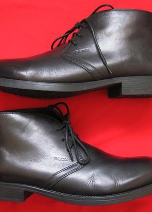 Geox respira u1352p (42) кожаные ботинки мужские
