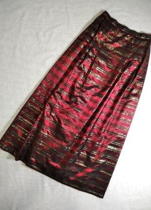 Черно- бордовая юбка макси с люрексом к хеллоуин hand made