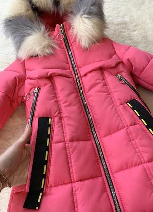 Зимняя куртка пуховик девочке 34, 36