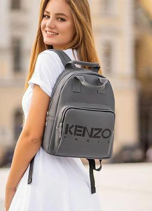 Стильный молодежный женский рюкзак из качественной кожи pu. вместительный и удобный.