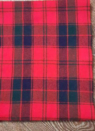 Red robertson  100 % шерсть шарф в клетку унисекс