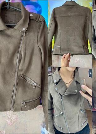 Куртка под замшу amisu с-м