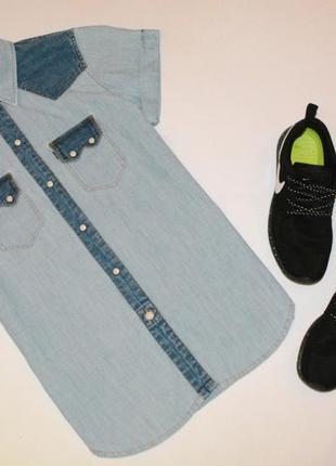 Джинсовая рубашка с коротким рукавом levis