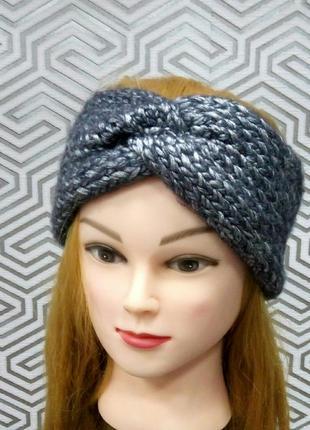 Повязка на голову теплая чалма шапочка чалма-повязка