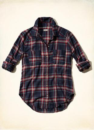 Hollister xs рубашка оригинал холлистер клетку клетчатая