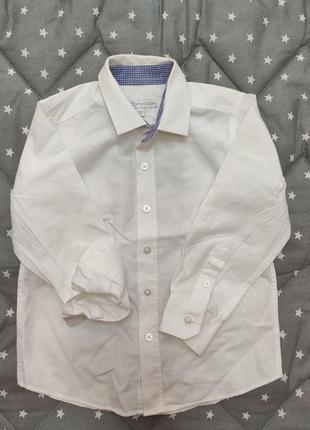 Біла сорочка для хлопчика 4 роки