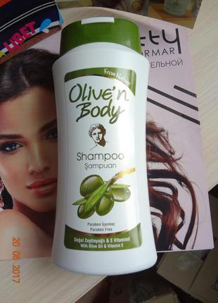 "Шампунь с оливковым маслом ""olive'n body""  от sera kozmetik, 400 мл для сухих волос"