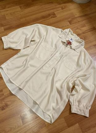 Рубашка котон новая оверсайз цвета светлий персик h&m h&m