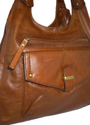 Стильная  большая   сумка-  натуральная   кожа   бренд m&s