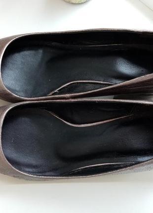 Серебристые туфли insolia