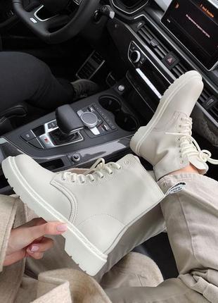 Dr.martens 1460 white cream premium термо підкладка женские кроссовки наложенный платёж