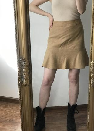 Шерстяная юбка-годе gap
