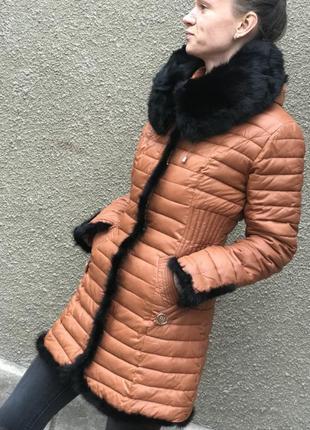 Демисезонная длинная куртка пальто в стиле снегурочки еврозима