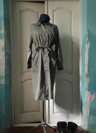 Халат винтажный, хаки, industrial style, индустриальный стиль, 1970-80е