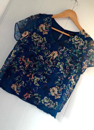 Шифоновая блуза mango