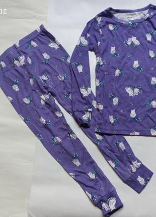 Пижама хлопковая для девочки 2 предмета картерс carters