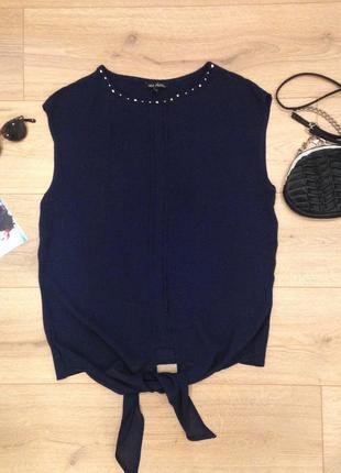 Темно-синяя блузка next