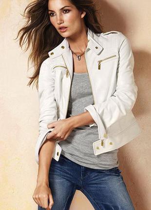 Новая белая куртка косуха от escandelle s-размера франция