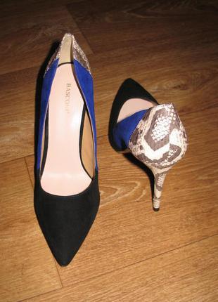 Basconi, туфли-лодочки, модельные, натуральная кожа+замша, 39 р., новые