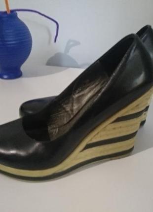 Туфли натуральная кожа р.38
