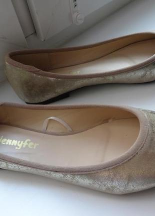 Новые бежевые  туфельки-балетки для девушки jennyfer