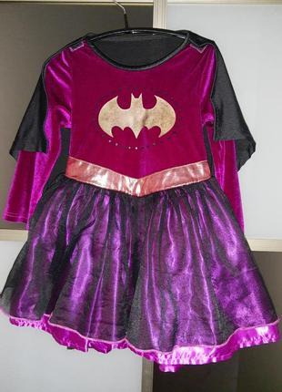 Карнавальное платье костюм бэтмен на хэллоуин