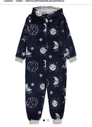 Флисовая пижама кегуруми  галактики george 5-6 лет