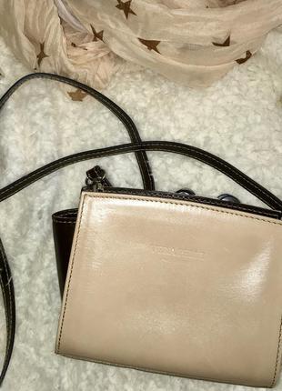 Маленька шкіряна сумочка vera pelle