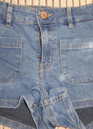 Шорты джинсовые, стрейч, короткие