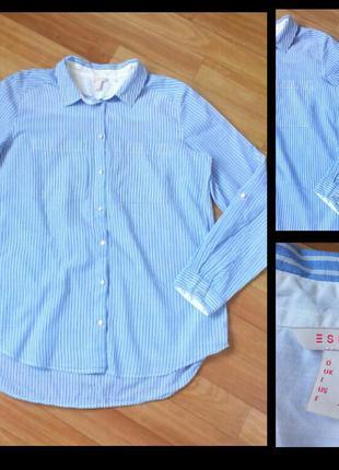 Фирменная коттоновая рубашка esprit, размер 40\12