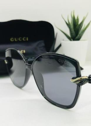 Женские солнцезащитные очки gucci чёрные (1925)
