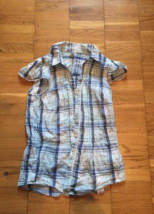 Блуза голубая с люрексом