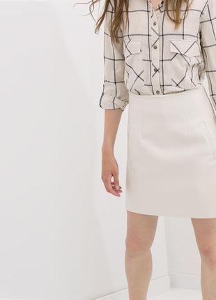 Белая юбка zara