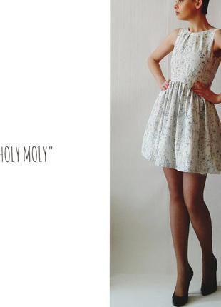 """Белое платье -babydoll """"земляничное"""",р."""