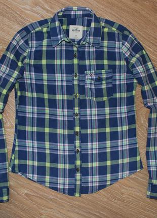 Стильная рубашка hollister, размер xs-s