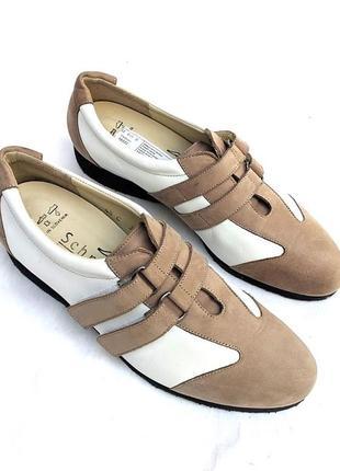 Стильные кожаные туфли сникерсы, монки schneider, швейцария, кроссовки, на липучках