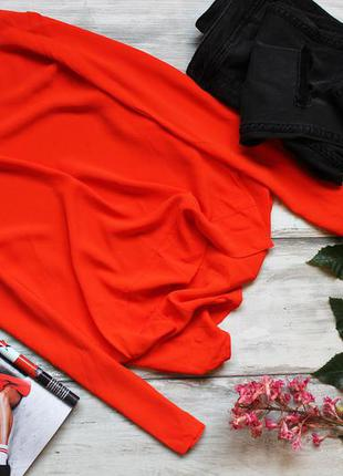 Коралловая блуза zara