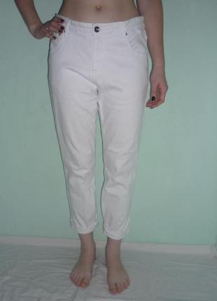 Белые джинсы с высокой посадкой, р.л