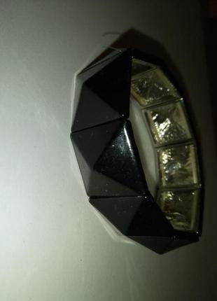 Браслет конусы черные метал