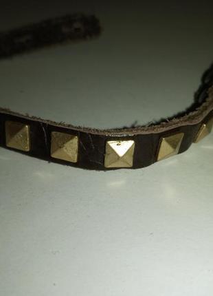 Браслет кожа конусы accessorize