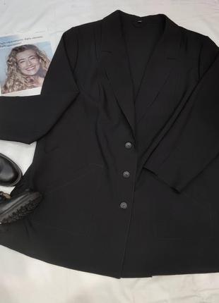 Базовый пиджак без подкладки,батал.