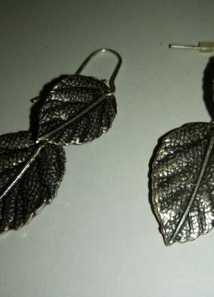 Серьги листики accessorize