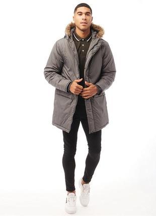 Мужская парка, зимняя куртка - парка, длинная куртка