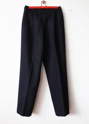 Теплые плотные мужские винтажные брюки высокая посадка bogner 100% шерсть