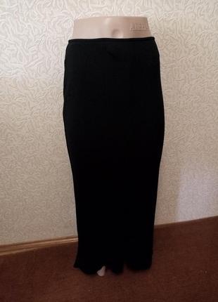 Длиннная черная класическая юбка