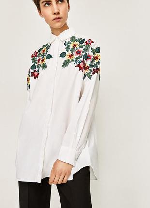 Рубашка оверсайз с цветочным принтом