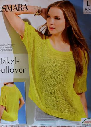 Вязаный летний пуловер р.l esmara германия