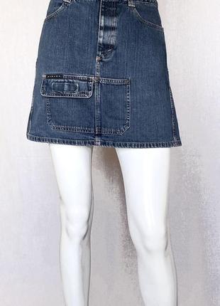 Джинсовая юбка sisley, xs-s