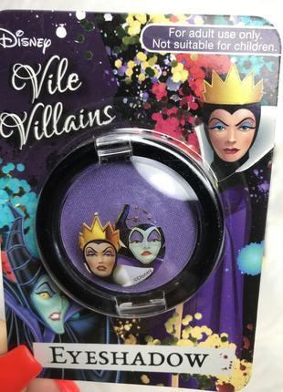 Оригинальные фиолетовые тени для век disney. vile villains purple  eyeshadow. halloween