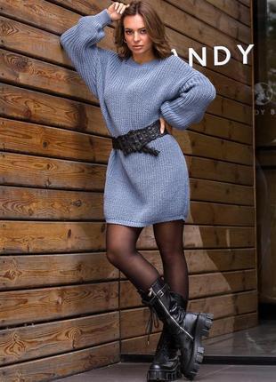 Вязаная туника-платье «тина»